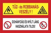 Robbanás veszély! Dohányzás és nyílt láng használata tilos! (1 kép)