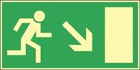 Menekülési út jobbra, lépcsőn le (1 kép)