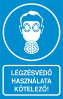 Légzésvédő használata kötelező! (1 kép)